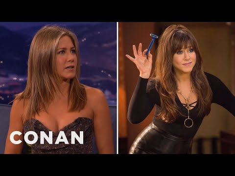 Jennifer Aniston&39;s Risqué Necklace  - CONAN on TBS