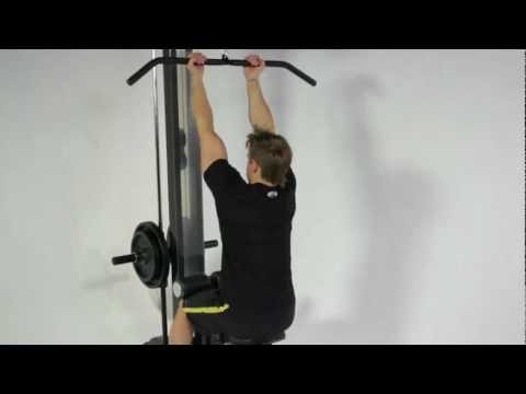 Bodybuilding - Rob Riches Back & Biceps Workout On Powertec Lat Pulldown, Basic Trainer & Workbench