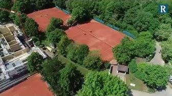 Drohnenflug über den BASF Tennisclub