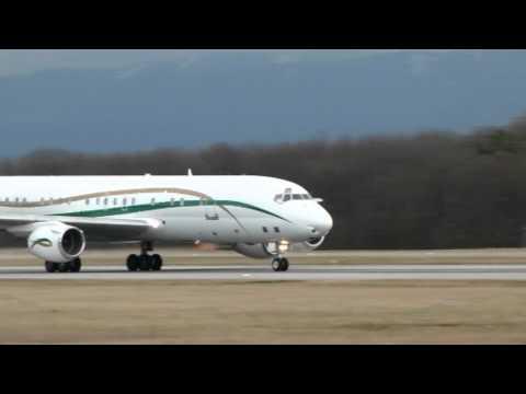 Douglas DC-8 (VP-BHS) take-off @ Geneva Airport - 8/1/2012