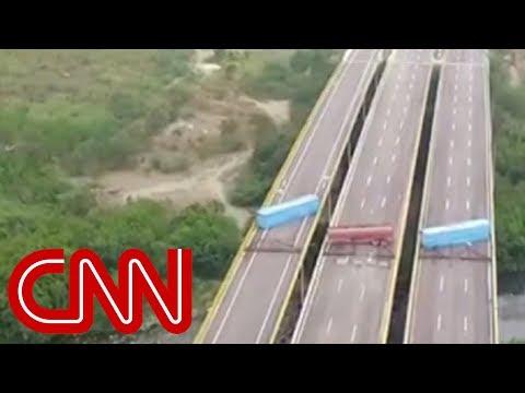 Venezuelan military blocks bridge as aid arrives Mp3
