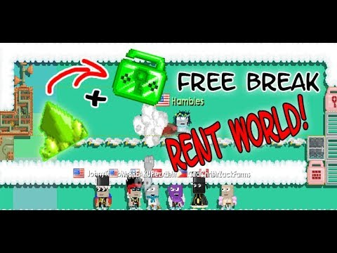 GrowTopia - BUILDING XENO+ELOCK FREE RENT BREAK WORLD!! ( SPOTXENO )