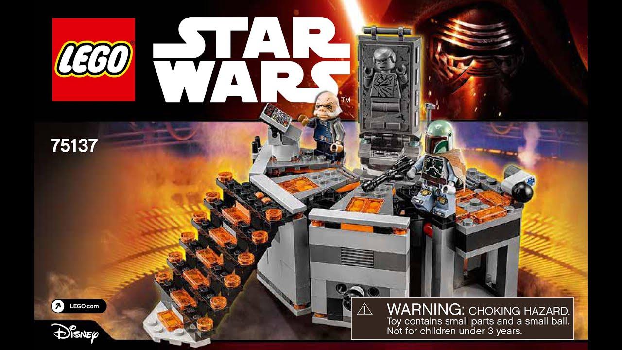 Lego Star Wars Carbon Freezing Chamber 75137 Instructions Diy Youtube