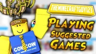 PLAYING DIFFERENT GAMES WITH VIEWERS! COME JOIN US :D | ROBLOX SUGGESTED GAMES WITH FANS AND VIEWERS