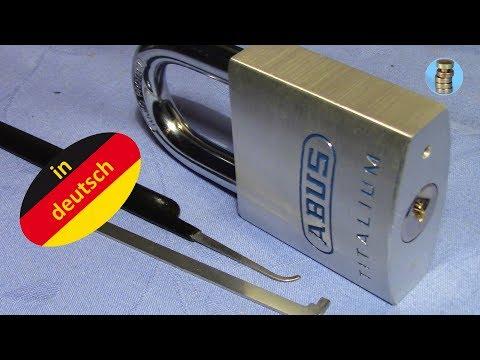 Взлом отмычками ABUS TITALIUM (80 TI / 50)  ABUS TITALIUM (80 TI / 50) gepickt - Tips & Tricks ()