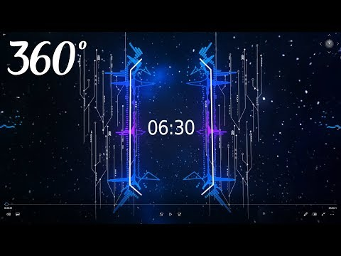Countdown Timer ( v 685 ) 6 min 30 sec 360° VR + sound 4k