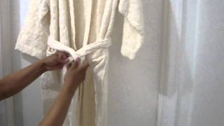 Ebay For Sale: Unisex Palace Collection Towel Bath Robe With Sateen Cushioned Hanger