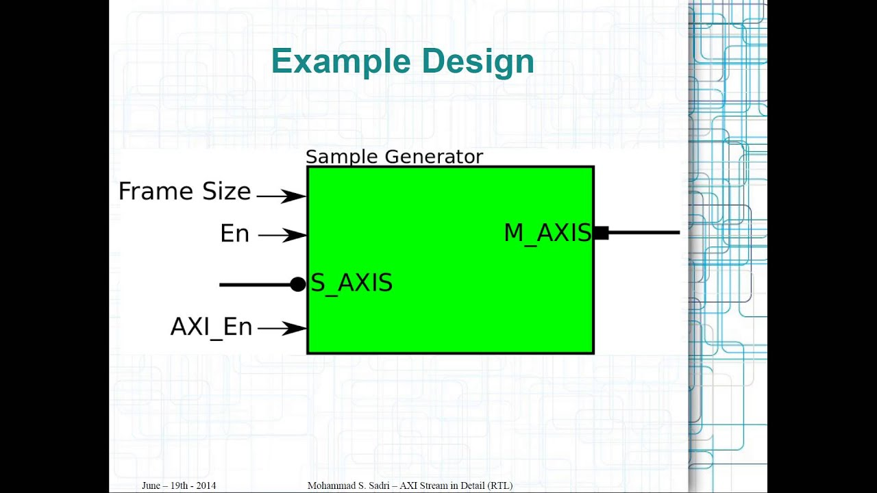 ZYNQ Training - session 07 part I - AXI Stream Interfaces in Detail (RTL  Flow)