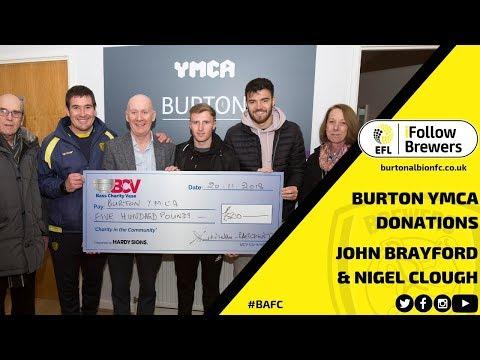 BURTON YMCA | Nigel Clough and John Brayford discuss importance of foodbank donations