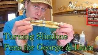 Turning And Burning Pens For George And Liam