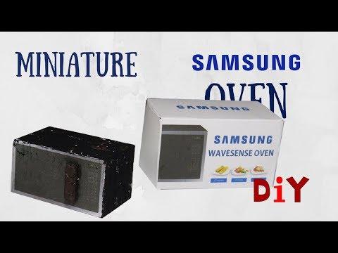 ✔️MINIATURE SAMSUNG MICROWAVE OVEN | DIY TUTORIAL