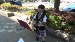 2017.5.20.ギター弾き語りじゅ@海浜幕張駅南口前広場.