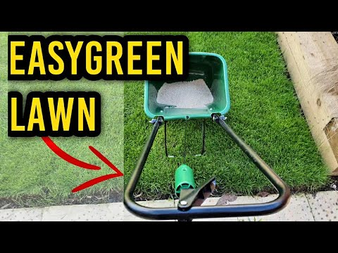 Using A Rotary Lawn Spreader // Scotts EasyGreen Review