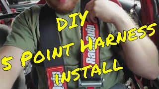 EASY DIY 5 Point Harness Install - EF Sedan Hatchback Crx Wago