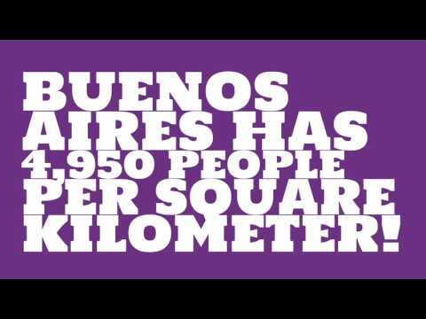 What is the land area of Buenos Aires?