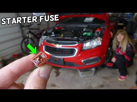 CHEVROLET CRUZE STARTER FUSE LOCATION REPLACEMENT. CAR NOT STARTING