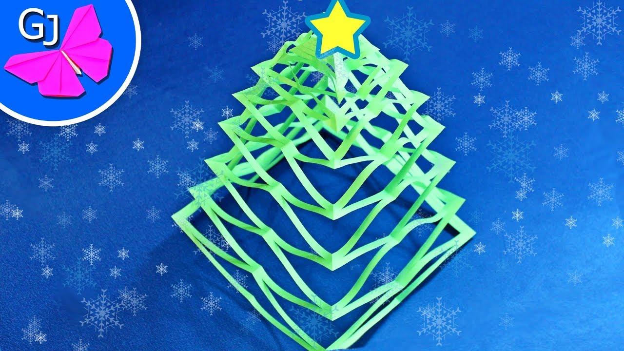 Объемная елочка из бумаги своими руками оригами 103