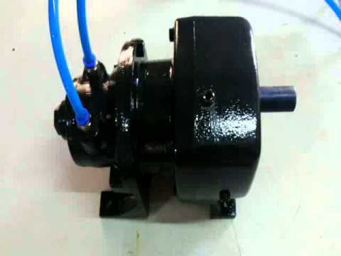Air power gear motor youtube for Air powered gear motor