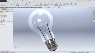 SolidWorks Tutorial | Design and Assembly of Light Bulb in SolidWorks