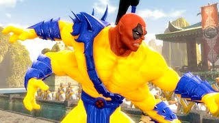 Mortal Kombat Komplete Edition - X-Men Deadpool Goro & The Flash Tag Ladder Gameplay Playthrough