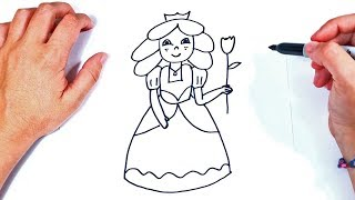 How to draw a Princess Step by Step | Princess  Drawing Lesson