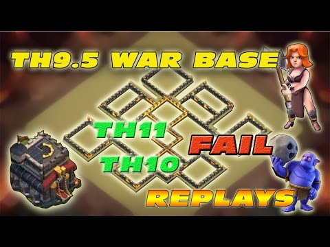 New TH9.5 War Base | Defense Against TH11 TH10 Replays | Clash Of Clan