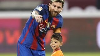 Afghan Boy Meets His Idol Barcelona's Lionel Messi