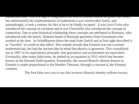 Essay 52   The False Turns in General Relativity