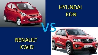 RENAULT KWID vs HYUNDAI EON Comparison, Review, Features, Specs, Price