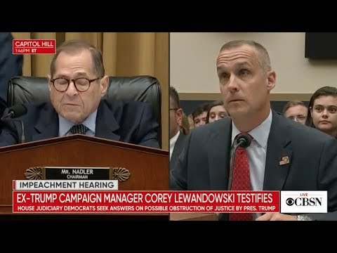 Corey Lewandowski Testifies At Impeachment Hearing Before Congress, Live Stream