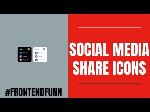 Social Media Font Awesome Icons Animation using HTML CSS SCSS Javascript Tutorial - web development thumbnail
