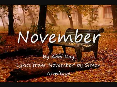 november poem simon armitage