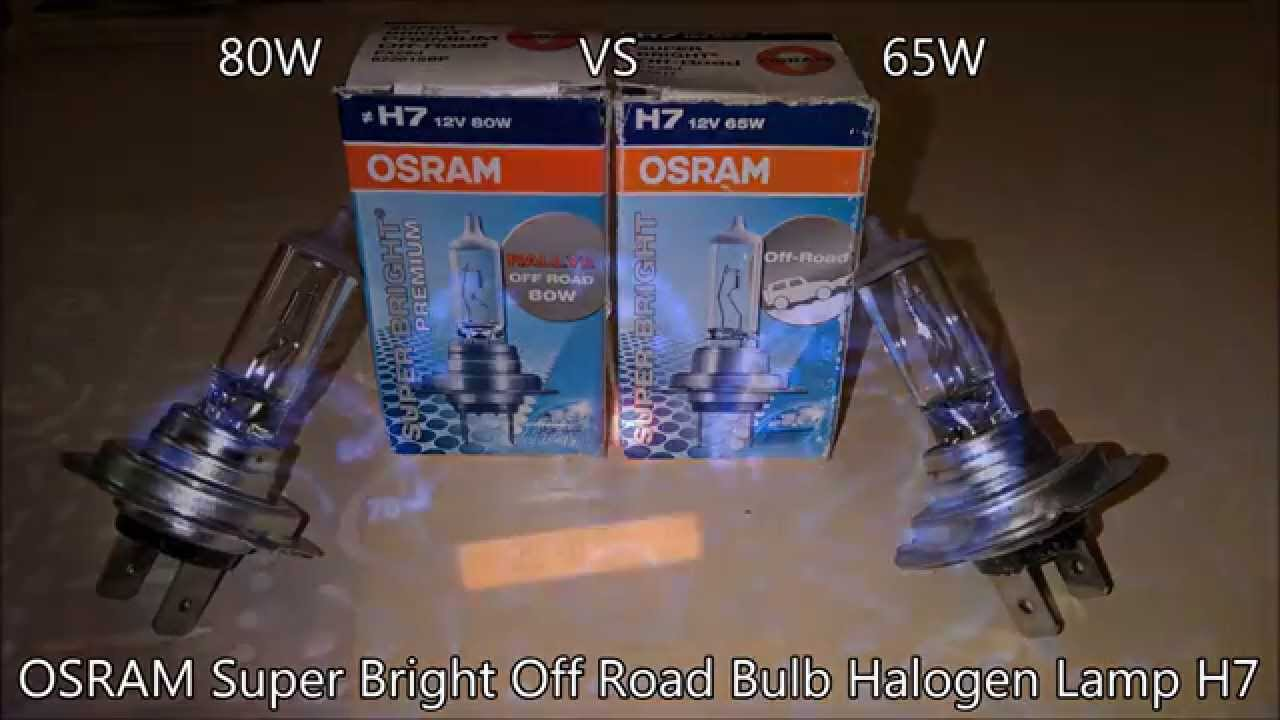 osram 80w vs 65w super bright off road bulb halogen lamp. Black Bedroom Furniture Sets. Home Design Ideas