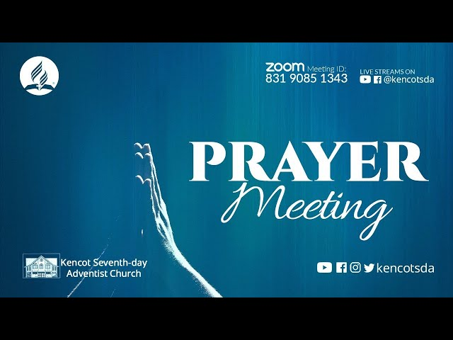 Wednesday Night Meeting - Kencot Seventh-day Adventist Church - October 13, 2021