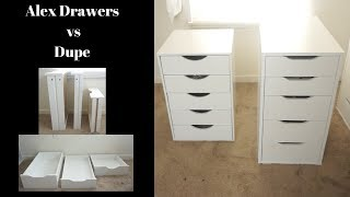 IKEA Alex Drawers VS Dupe from Michaels  | I have BOTH! Very detailed Comparison