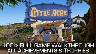 The Little Acre - 100% Full Game Walkthrough - All Achievements/Trophies Speedrun