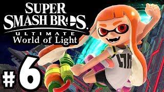 Super Smash Bros Ultimate - World of Light PART 6 - Inkling Hal Spirit - Switch Gameplay Walkthrough