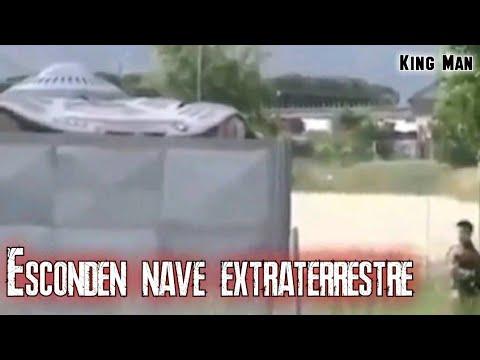 Persona graba una nave extraterrestre que tienen escondida aunque en el intento casi pierde la vida