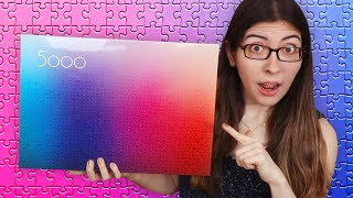 HUGE New Jigsaw Puzzle Haul (5000 Piece Gradient Puzzle, Ice Puzzle 9 & more!) screenshot 3