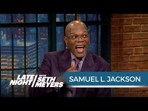 Samuel L. Jackson Finds Out He's in a Feud with Donald Trump  Late Night with Seth Meyers