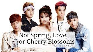 HIGH4, IU - 봄 사랑 벚꽃 말고(Not Spring, Love, or Cherry Blossoms) Lyrics - Rom/Hangul/Eng Mp3