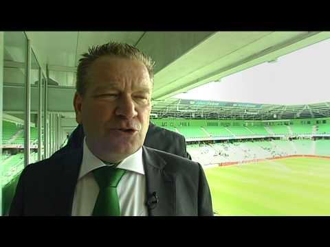 Hans Nijland tijdens FC Groningen-Ajax, deel 1