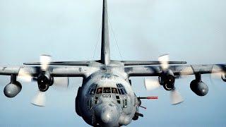 Расстрел талибов ИГИЛ с высоты 6 км. Работает AC-130