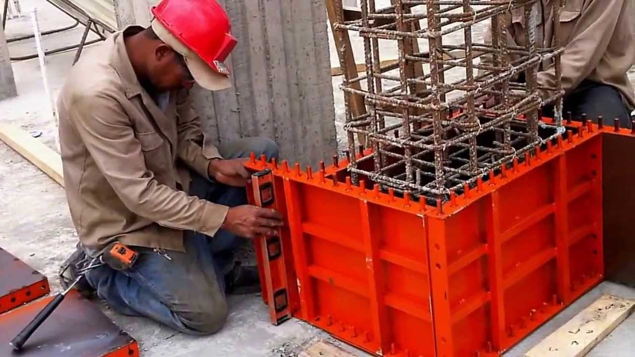 Sistema de encofrados para columnas youtube for Encofrado de escaleras de concreto