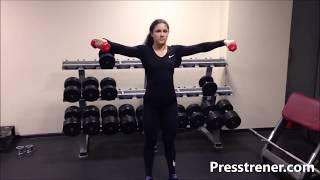 Упражнения с гантелями для дома и тренажерного зала для девушек и женщин