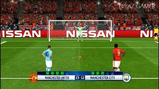 MANCHESTER UNITED vs MANCHESTER CITY | Penalty Shootout | PES 2017 Gameplay