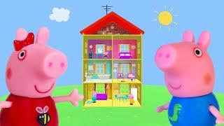 Peppa Pig Game | Crocodile Hiding in Peppa Pig Toys Pretending To Be George | Peppa Pig Family Home