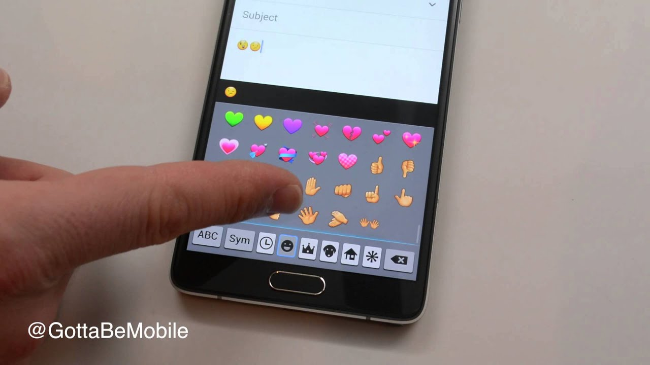 How To Use Galaxy Note 4 Emoji Youtube