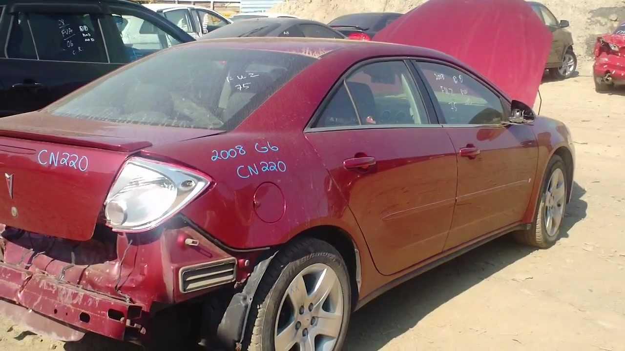 2008 Pontiac G6 Red Auto Parts Inventory Standard Auto