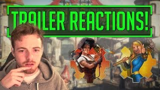 Fallout 4 - Vault-Tec, Contraption and NUKA WORD TRAILER REACTION!
